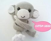 2 light grey monkey curtain tie back (sbroun)