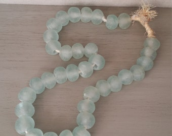 Recycled Glass Bead - Light Blue