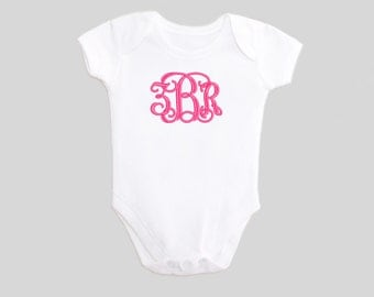 Monogrammed Baby Clothes - Embroidered - Baby Clothes - bodysuit