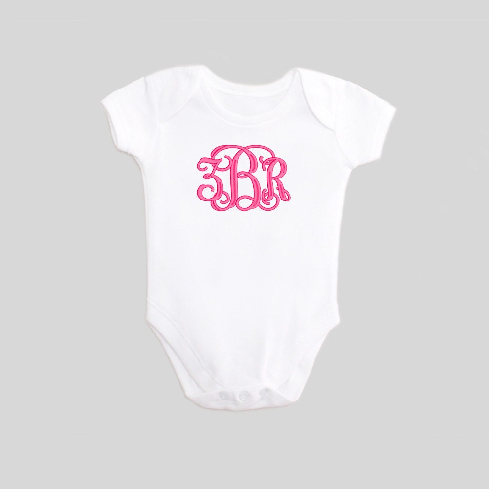 Monogrammed Baby Clothes Embroidered