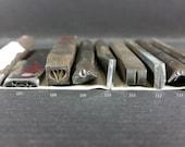 Handmade Navajo Metal Stamps, metal stamping, leather stamping, ink stamping, tribal, Native American, craft tool