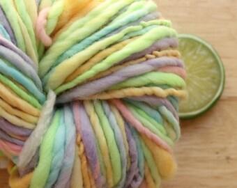 Nursery Rainbow - Handspun Merino Wool Yarn Self Striping Bulky