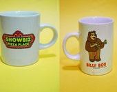 Vintage 80s Showbiz Pizza Place Billy Bob the Bear miniature souvenir cup Collectibles Memorabilia Retro