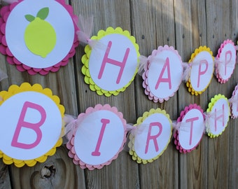 Lemonade Birthday Banner/ Lemonade Banner/ Lemonade Party