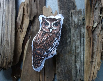 Screech Owl Bird Ornament