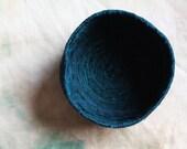 Indigo Blue Textile Bowl Handcrafted