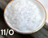 Rustic White Toho Seed beads, size 11/0, Ceylon Frosted Snowflake, N 141F, japanese glass beads - 10g - S204