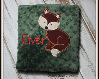 Fox Lovey Security Blanket  FREE PERSONALIZATION