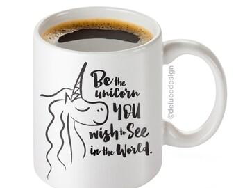 Unicorn Mug / Unicorn Coffee Mug / Unicorn Gift / Funny Unicorn Mug / I'm a Unicorn Mug / Mug Exchange / DeLuce Design