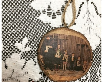 Customized Family Photo Wood Ornament