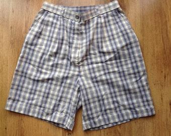 """Vintage 90S Check Plaid Shorts W28"""""""