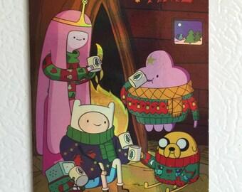 christmas adventure time fridge magnet