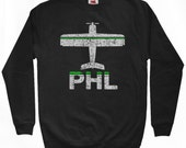 Fly Philadelphia Sweatshirt - PHL Airport - Men S M L XL 2x 3x - Philly Shirt - 2 Colors