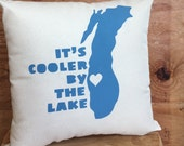Milwaukee Cooler by the Lake pillow /  Wisconsin, Lake Michigan, MKE, Midwest, Home Decor