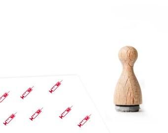 Ministempel Spritze Arzt 12mm