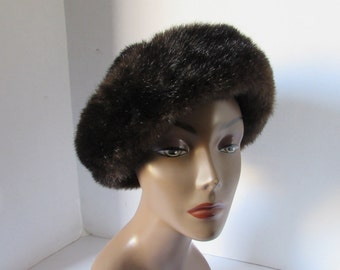 Faux Fur Mink Hat. Made in USA
