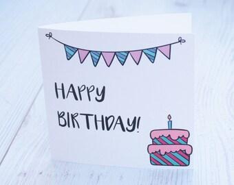 Happy Bithday Greeting Card (Blank Inside) designed by Meytal Bar-noy Jools Jewelry