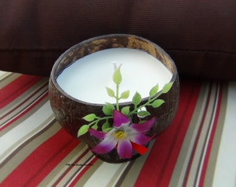 Limited Time Only. 12oz 100% SOY Candle in a Summer Theme Coconut Bowl. Choose Your Scent. Natural. Long Burning. Eco-Friendly