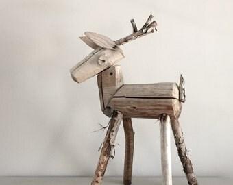 Wood Stump Deer