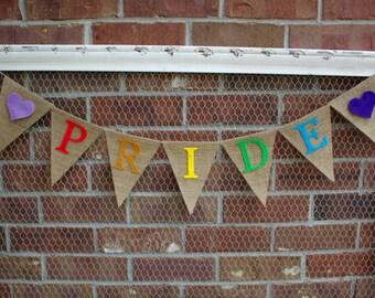 Pride Banner, Gay Pride Banner, Rainbow Banner Banner, LGBT, Gay Wedding, Love Wins, Gay Banner