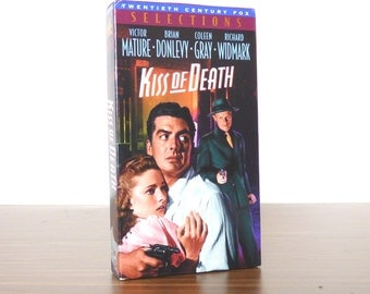 Kiss of Death 1995 Vhs Release Tape Movie Video Victor Mature Brian Donlevy
