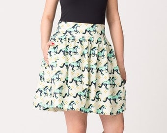 Horses Gathered Skirt on Sale