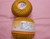 DMC BABYLO crochet thread size 10  Golden coppery color # 783 unusual color
