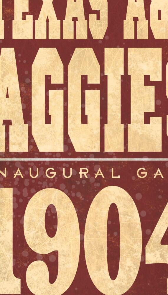 Texas A&M Aggies Football Wall Art Sign Plaque, Gift Present, Home ...