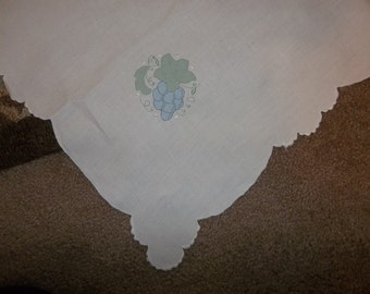 "Vintage MADEIRA Linen Tablecloth...Good Condition...62"" by 87"" Pure White Color"