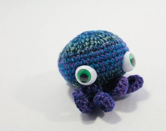 Chubby Stuffed Lil Octopus - Kids Toy - Blues with large Eyes