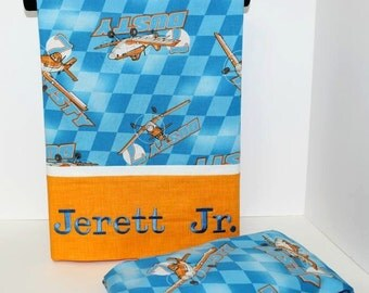 Disney Planes Dusty Pillowcase and Crib or Toddler Fitted Sheet Set, Disney Planes Bedding