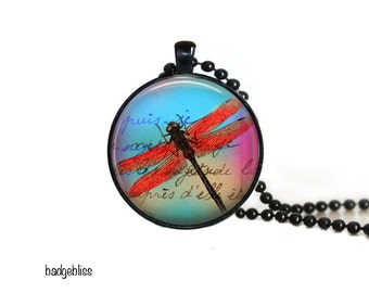 Dragonfly pendant  - dragonfly pendant necklace.