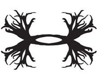 Deer Antler Under Armour Decal /RTIC YETI  Car Decal, Computer Decal, Window Decal, Cell Phone Decal