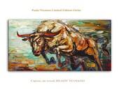 Red Horn - Limited Edition - Large Abstract Art  Giclee on canvas Home Decor Wall Art Paula Nizamas