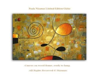 Morning Latte - Abstract Art Giclee on canvas home interior DecorPaula Nizamas Ready to hang