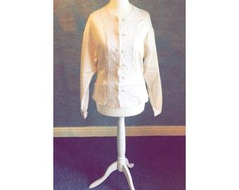 Cute LAURA ASHLEY Off-White Button Up Shirt
