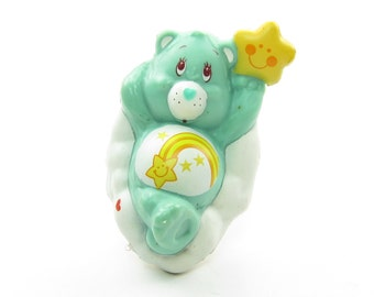 Wish Bear on a Cloud Care Bears Vintage PVC Mini Figure or Cake Topper - Wishing on a Star