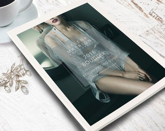 Photography Template, Boudoir Photoshop Template, Welcome Guide Magazine, Marketing Set, Price Guide Template, BO302, BM201
