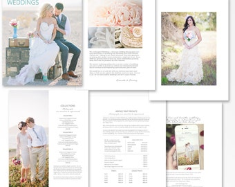 Photography Pricing Template, Wedding Price Guide, Photoshop Marketing Template for Photographers, Breeze, WPG301, INSTANT DOWNLOAD