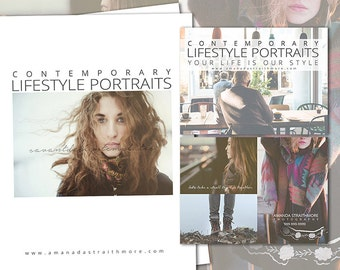 Photography Templates, Marketing Magazine Templates, Marketing Card, Welcome and Price Guide Template - Lifestyle, INSTANT DOWNLOAD