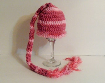 Sale. Clearance. Elf hat. Stocking hat. 0-3 months hat.
