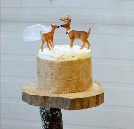redneck wedding cake cake topper deer cake topper wedding cake topper 19132