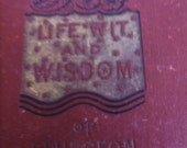Charles Spurgeon, Pastor, Life of Charles H. Spurgeon, Rare Book, Life Wit and Wisdom Of the world's Greatest Preacher......