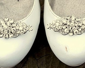 Wedding Shoe Clips, Vintage Style Shoe Clips, Bridal Shoe Clips, Swarovski Rhinestone Shoe Clips, Shoe CLips for Bridal Shoes, Wedding Shoes
