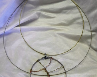Recycled Double Guitar String Necklace with Tree of Life Pendant