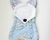 Baby floral fox toy, lovey, teether, doll, Little Fox