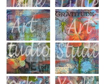 Digital Download 2 Pages of ATC Painted Textured Backgrounds
