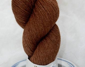 Dark Brown Alpaca/Merino yarn
