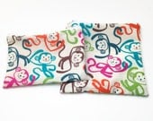 reusable sandwich bag / snack bag with zipper: Fun Monkeys