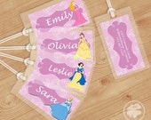 Princess -  Luggage Tag, Bag Tag, Backpack Tag, ID Tags, Personalized, Custom